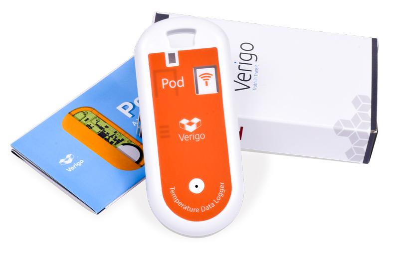 enregistreur de température Verigo Pod, livré avec manuel et certificat