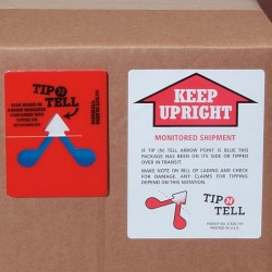 TIP-N-TELL indicateur de renversement