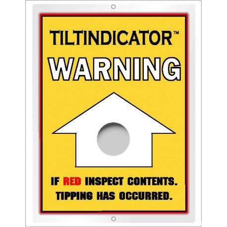 Tilt indicator indicateur de renversement